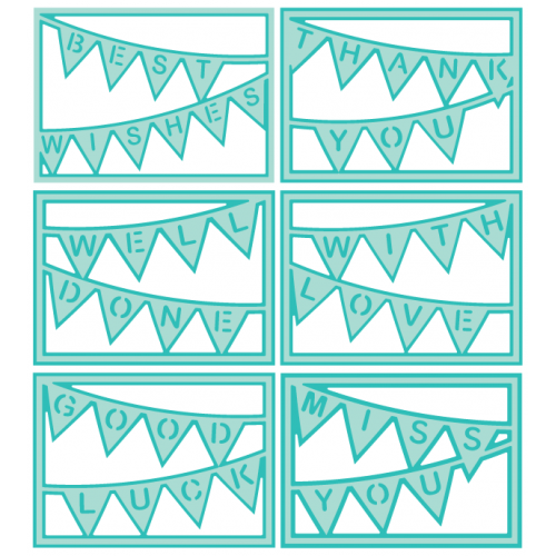 Bunting Card Covers