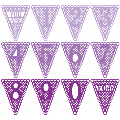 Lacey Number Pennants