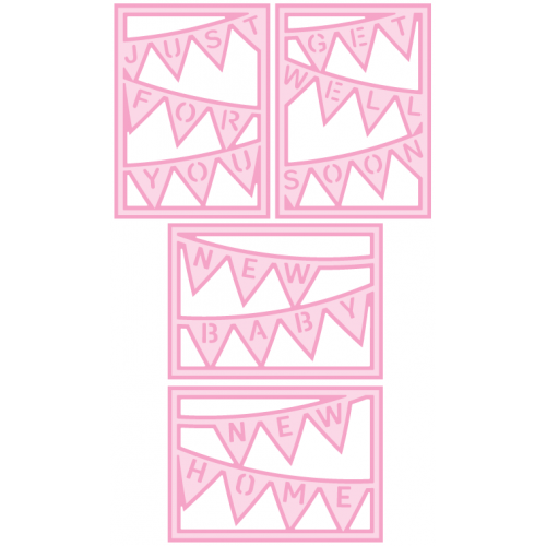 More Bunting Card Covers