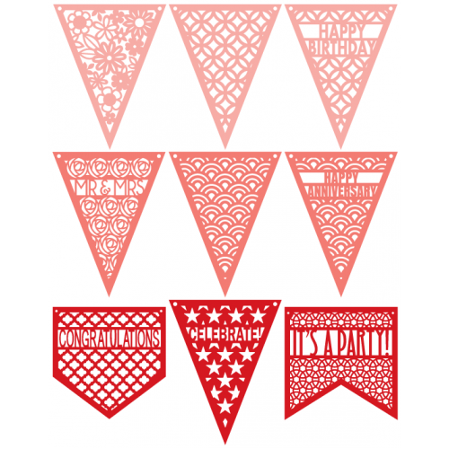 Patterned Pennants