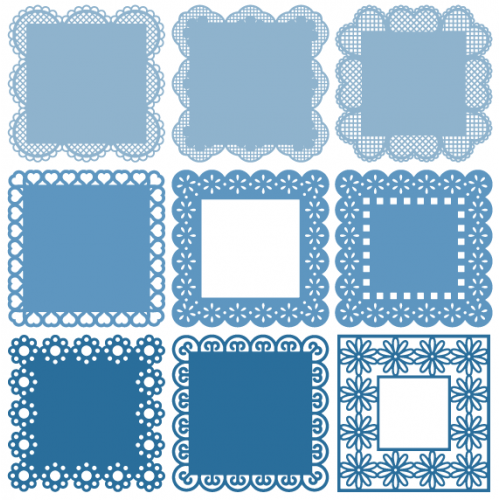 Square Lacey Frames