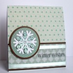 winter wishes snowflake card