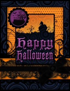 halloween digital card