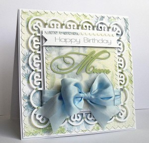 decorative square frame 1 card