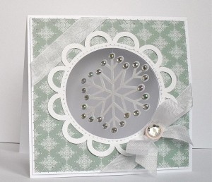 suspension snowflake card