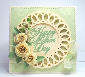 mothers day doily card