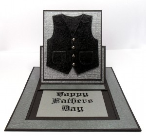 pop up slider waistcoat card