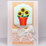 sunflower plant pot card