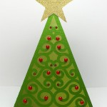 swirly christmas tree 2 card