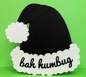 bah humbug hat card