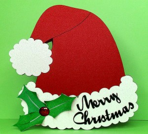 santa hat card