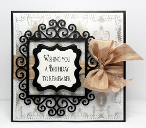 swirl frame 4 card