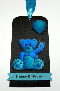 balloon teddy tag