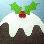 Christmas Pudding Easel Card 3