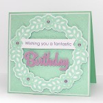 floral frame birthday card